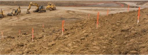 Excavator Staking